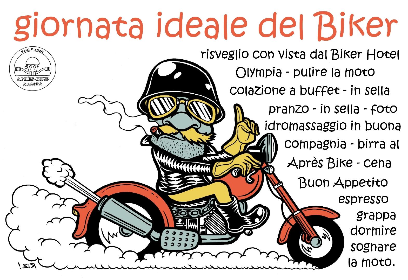 gironata ideale del Biker